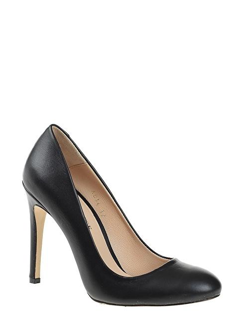 D by Divarese Hakiki Deri Topuklu Ayakkabı Siyah